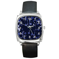 Blue Dream Square Metal Watch