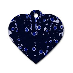 Blue dream Dog Tag Heart (Two Sides)