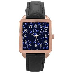 Blue dream Rose Gold Leather Watch