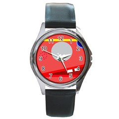Cute face Round Metal Watch