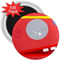 Cute face 3  Magnets (100 pack)