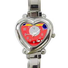 Cute face Heart Italian Charm Watch