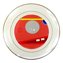 Cute face Porcelain Plates