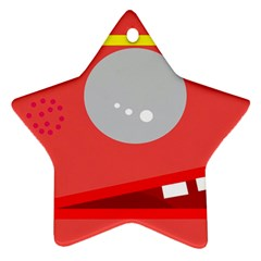 Cute face Star Ornament (Two Sides)