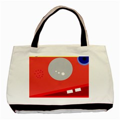 Cute face Basic Tote Bag (Two Sides)