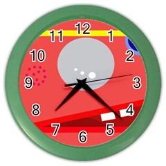 Cute face Color Wall Clocks