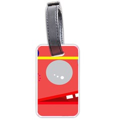 Cute Face Luggage Tags (one Side)