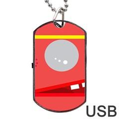 Cute face Dog Tag USB Flash (One Side)