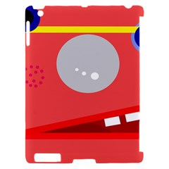 Cute face Apple iPad 2 Hardshell Case (Compatible with Smart Cover)