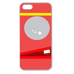 Cute face Apple Seamless iPhone 5 Case (Clear)
