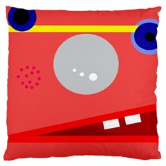 Cute face Large Flano Cushion Case (One Side)