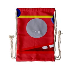 Cute face Drawstring Bag (Small)