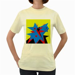 Clock Women s Yellow T-Shirt
