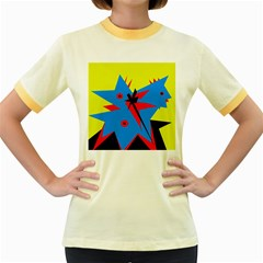 Clock Women s Fitted Ringer T-Shirts
