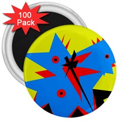 Clock 3  Magnets (100 pack)