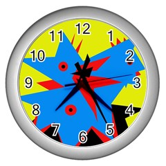 Clock Wall Clocks (Silver)