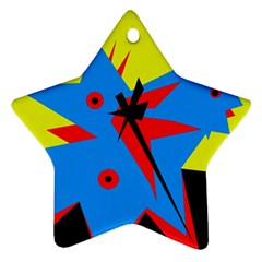 Clock Star Ornament (Two Sides)