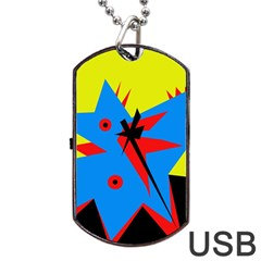 Clock Dog Tag USB Flash (Two Sides)