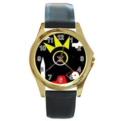 Stay cool Round Gold Metal Watch