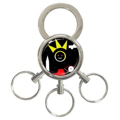 Stay cool 3-Ring Key Chains