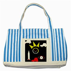 Stay cool Striped Blue Tote Bag