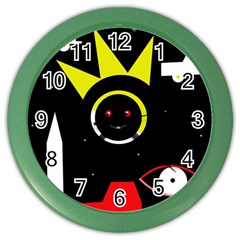 Stay cool Color Wall Clocks