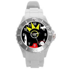 Stay cool Round Plastic Sport Watch (L)