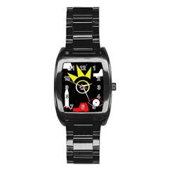Stay cool Stainless Steel Barrel Watch