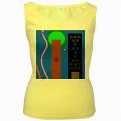 Growing  Women s Yellow Tank Top