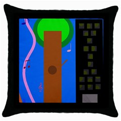 Growing  Throw Pillow Case (Black)