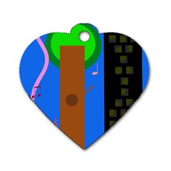 Growing  Dog Tag Heart (One Side)