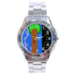 Growing  Stainless Steel Analogue Watch