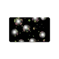 Silver balls Magnet (Name Card)