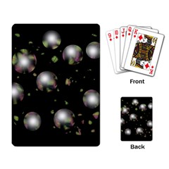 Silver balls Playing Card