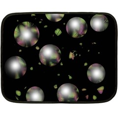 Silver balls Double Sided Fleece Blanket (Mini)