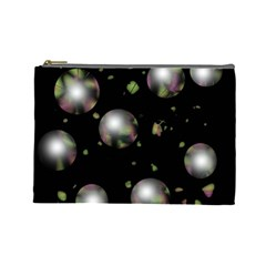 Silver balls Cosmetic Bag (Large)