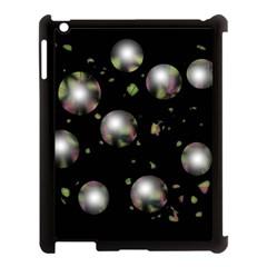 Silver balls Apple iPad 3/4 Case (Black)