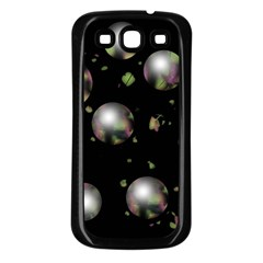 Silver balls Samsung Galaxy S3 Back Case (Black)