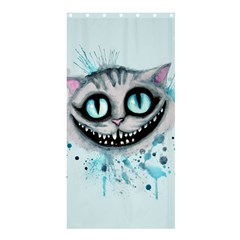 Cheshire Watercolor  Shower Curtain 36  x 72  (Stall)