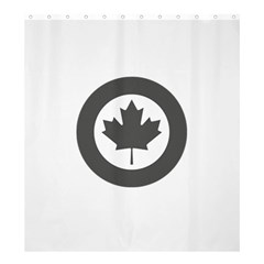 Low Visibility Roundel of the Royal Canadian Air Force Shower Curtain 66  x 72  (Large)