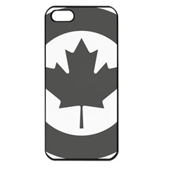 Low Visibility Roundel Of The Royal Canadian Air Force Apple Iphone 5 Seamless Case (black)