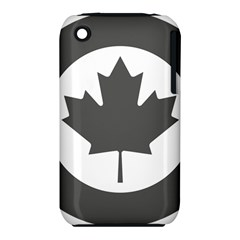 Low Visibility Roundel of the Royal Canadian Air Force Apple iPhone 3G/3GS Hardshell Case (PC+Silicone)