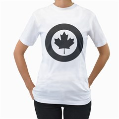 Low Visibility Roundel of the Royal Canadian Air Force Women s T-Shirt (White)