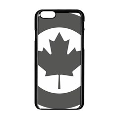 Low Visibility Roundel of the Royal Canadian Air Force Apple iPhone 6/6S Black Enamel Case