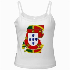 Flag Map Of Portugal Ladies Camisoles