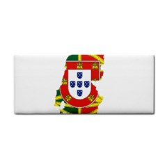 Flag Map Of Portugal Hand Towel
