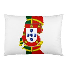 Flag Map Of Portugal Pillow Case