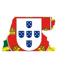 Flag Map of Portugal YOU ARE INVITED 3D Greeting Card (8x4)