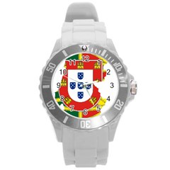 Flag Map of Portugal Round Plastic Sport Watch (L)