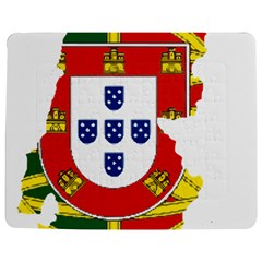 Flag Map Of Portugal Jigsaw Puzzle Photo Stand (rectangular)